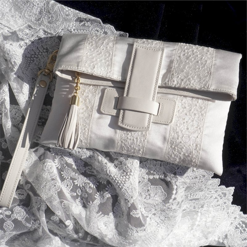 wedding strap clutch bag